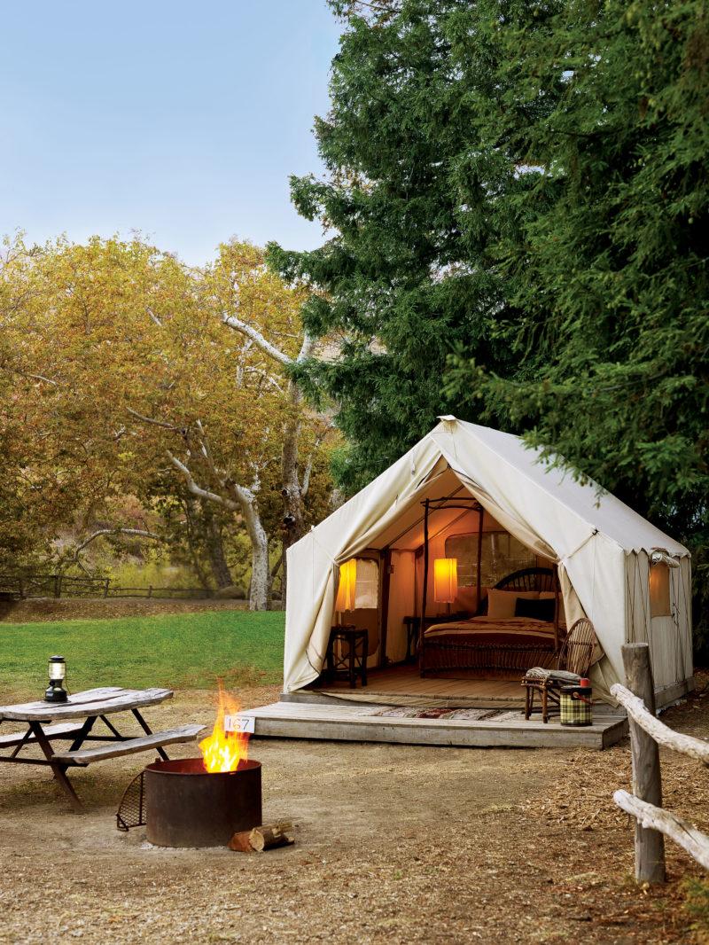 best luxury camping - sunset magazine