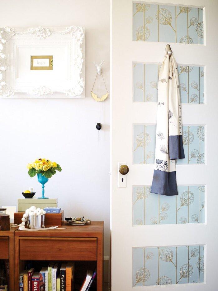 How To Create Wallpapered Door Panels Sunset Magazine