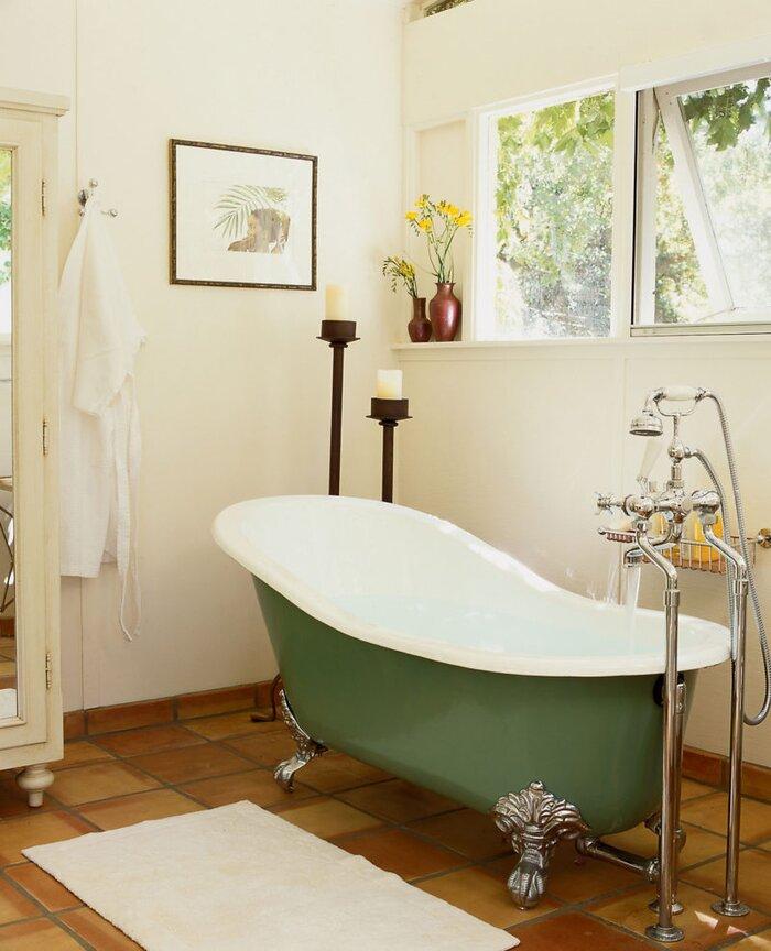 Painted Bathub - Sunset Magazine