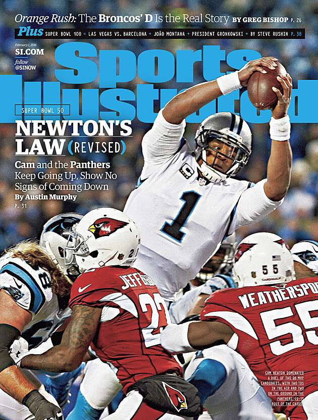 best sneakers c035d 83369 Cam Newton on Sports Illustrated cover before Super Bowl 50 ...
