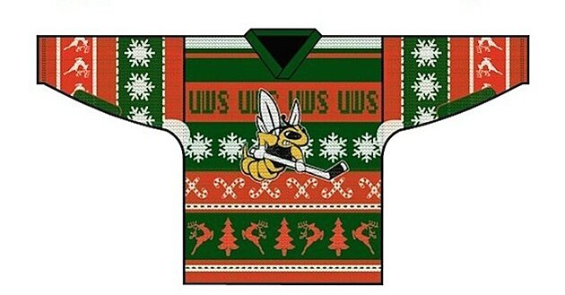 Photo  Wisconsin-Superior hockey team will wear ugly Christmas sweater  jerseys  32dd74227