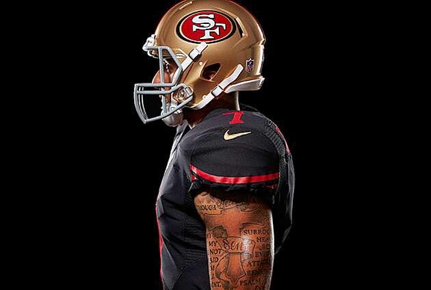 official photos b0b91 c36d4 San Francisco 49ers uniform: Team unveils new black ...