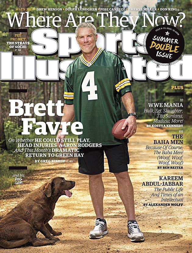 on sale b7c3e e12ef Brett Favre: Sports Illustrated cover features former ...