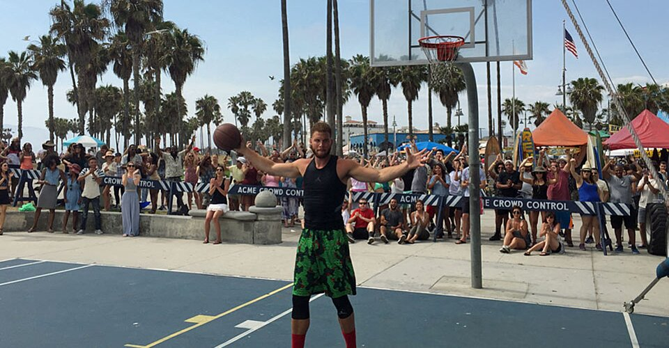b0e447d762c8 Blake Griffin dishes during Space Jam-inspired Jordan commercial ...