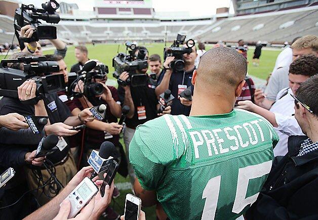 Mississippi State QB Dak Prescott adjusts to life as an SEC
