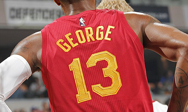 low priced 5a2cc 90538 Photos: Indiana Pacers wear Hoosiers' 'Hickory High' jerseys ...