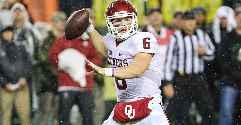 Heisman Watch Oklahoma 39 S Baker Mayfield Rises Fournette Falls