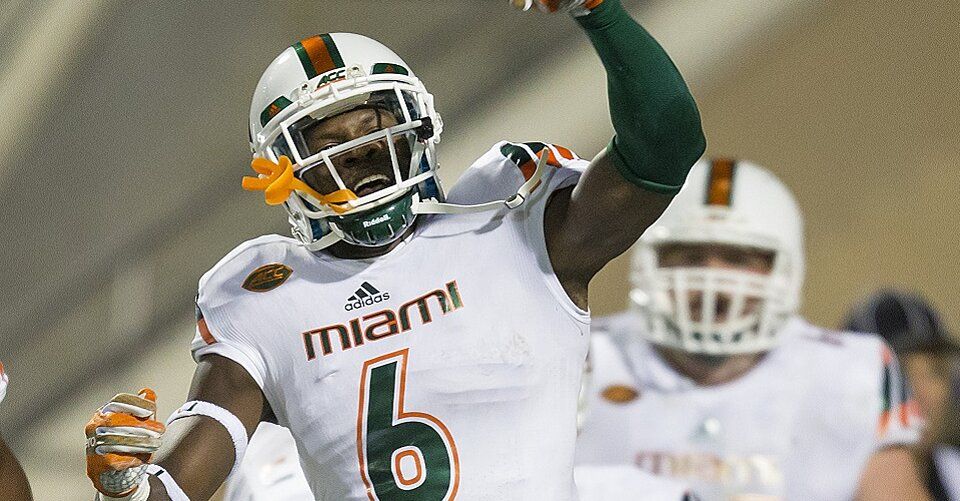 huge discount 196dc c91f7 Miami Hurricanes football: Jamal Carter suspended for Sun ...