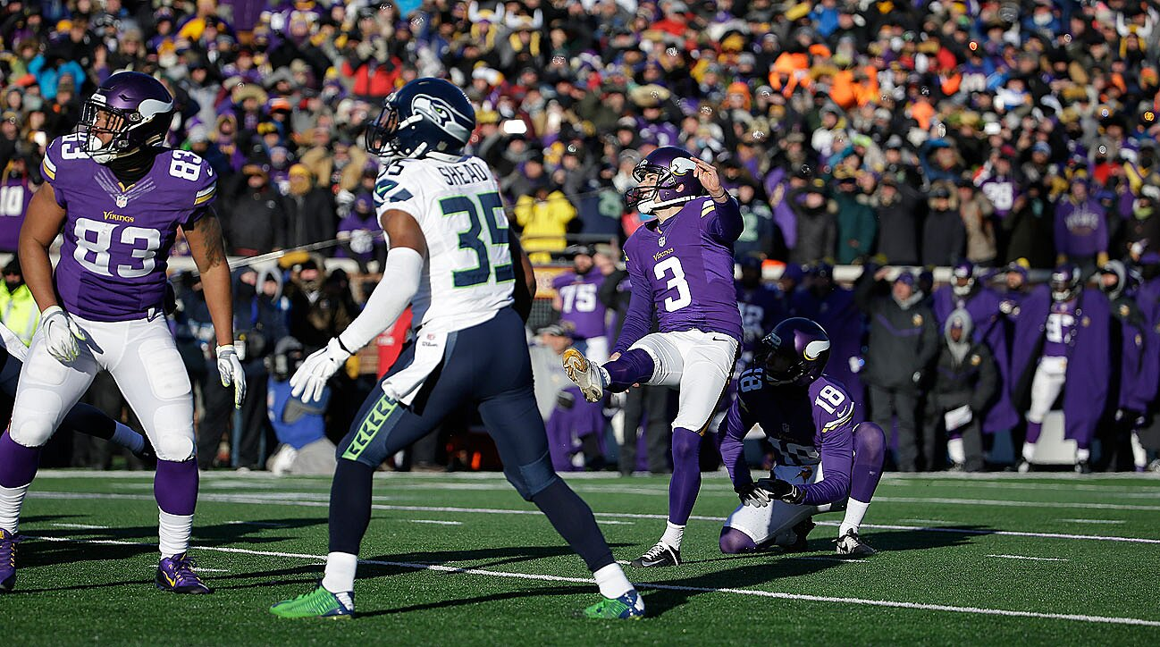 f6ef0ee4 Blair Walsh miss dooms Vikings; NFL wild-card playoffs review | SI.com