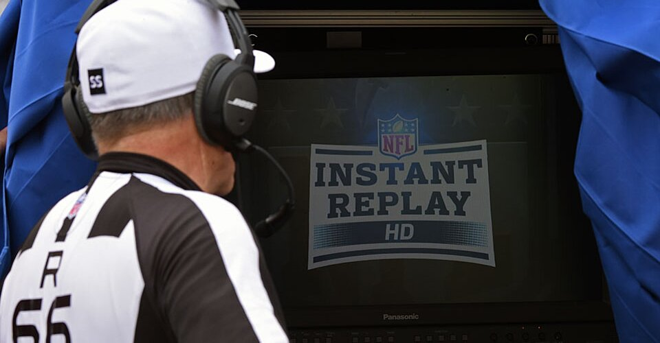 the issue of instant replay of the nfl in the united states