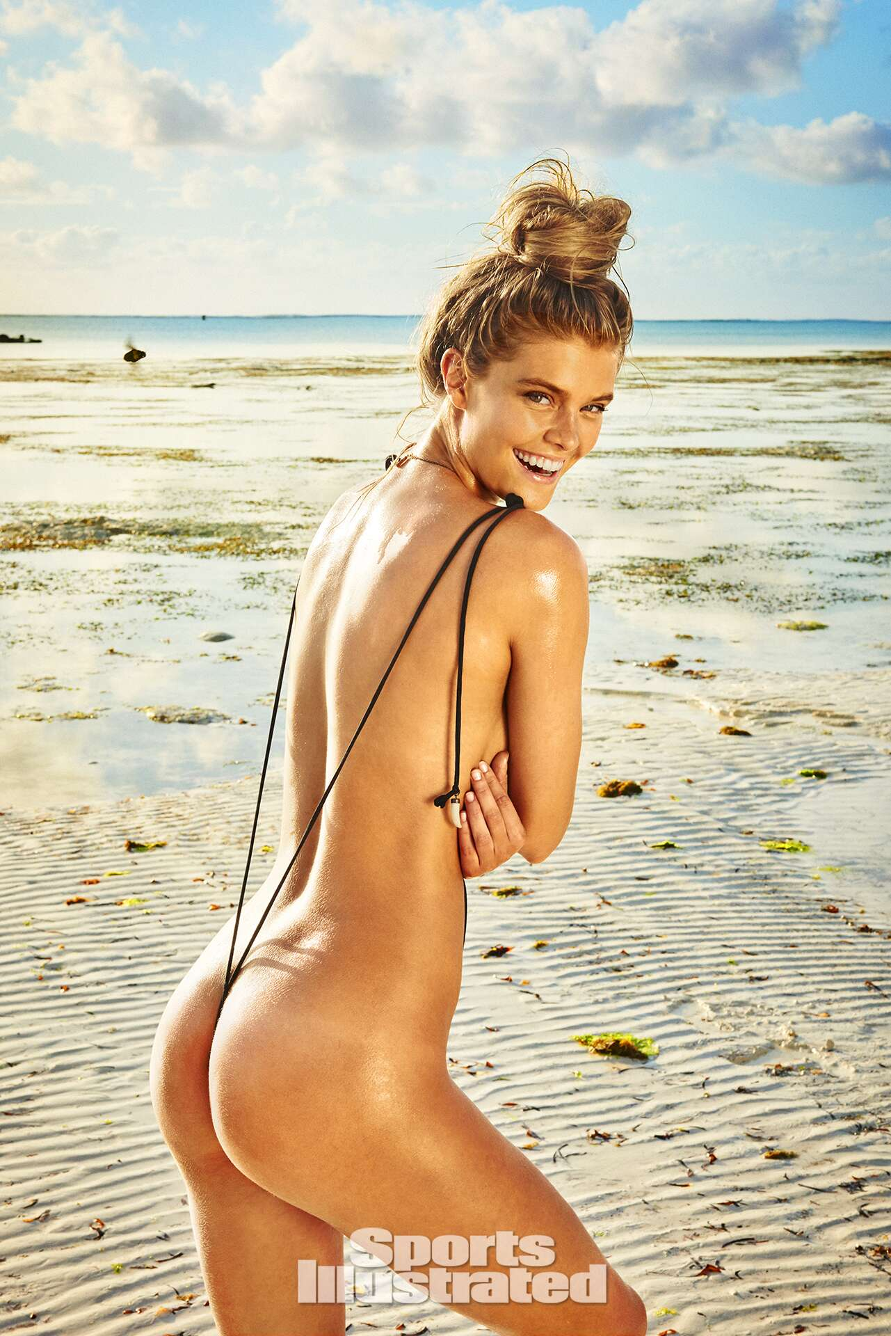 <p>Nina Agdal was photographed by Ruven Afanador in Zanzibar. Swimsuit by GABRIELA PIRES BEACHWEAR.</p>