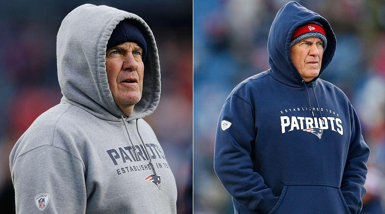 promo code 7f6cf eb2d5 Bill Belichick's hoodie is missing; Raiders fan style | SI.com