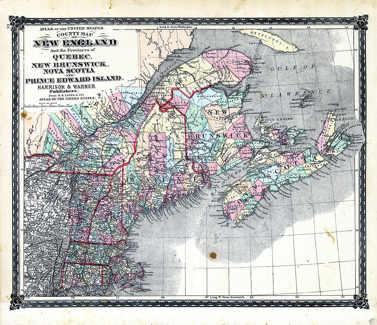 Where Is New England States Location Geography Si Com
