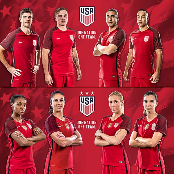 new style 94247 b7fb7 New US Soccer jersey: All-red uniform for USMNT, USWNT ...
