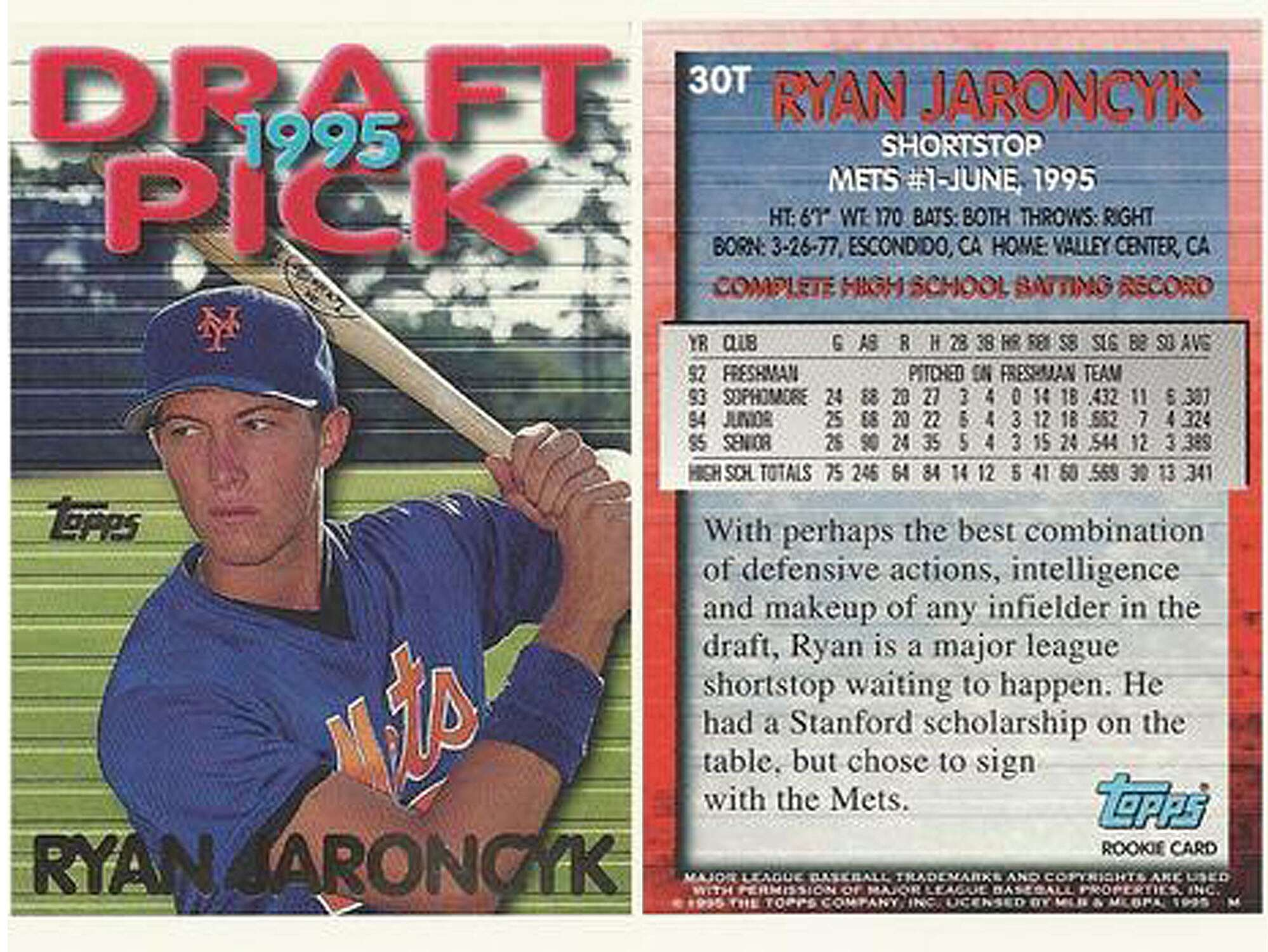 Ryan Jaroncyk The Mets First Round Pick Who Quit Baseball