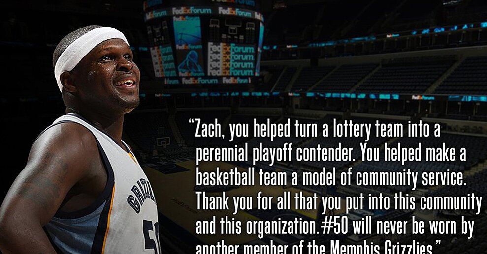 sneakers for cheap d329f 887d7 Zach Randolph: Grizzlies retire Memphis legend's number | SI.com