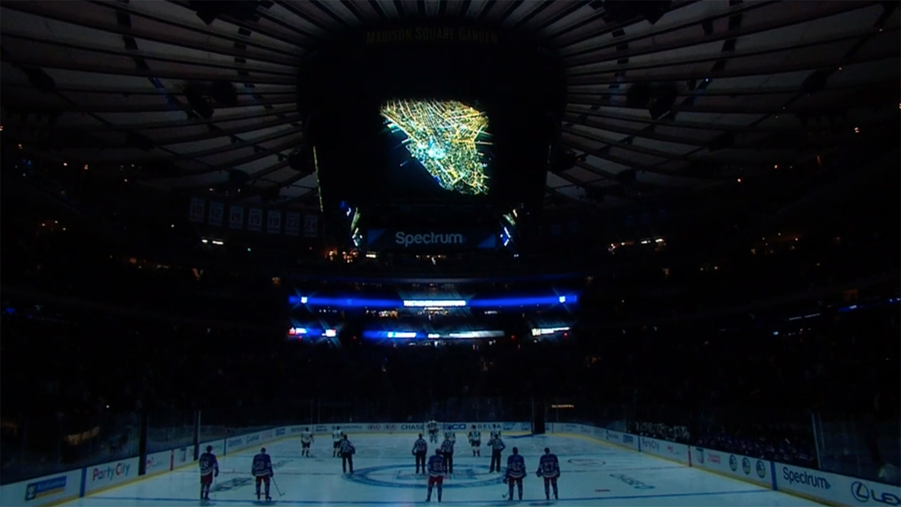 New York Rangers hold moment of silence after NYC attack
