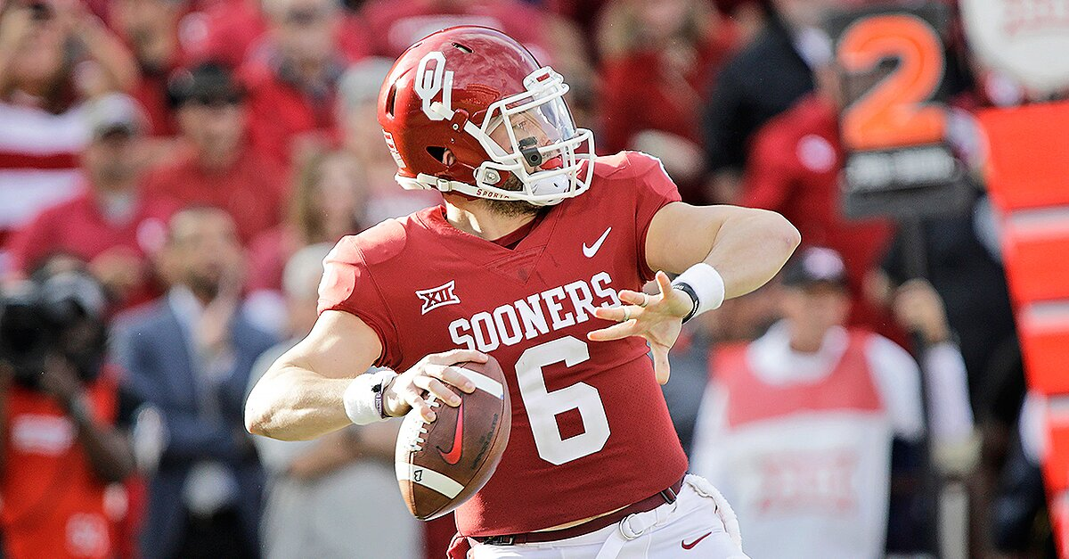 Baker Mayfield On Top Of Heisman Race Kerryon Johnson Makes Push
