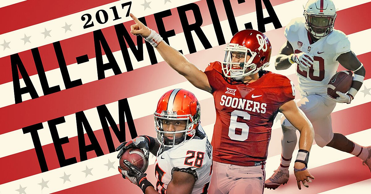 All America Teams 2017 Baker Mayfield Lamar Jackson