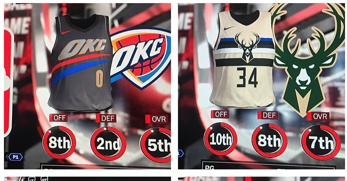 Look: NBA 2K18 leaked Nike's City edition jerseys