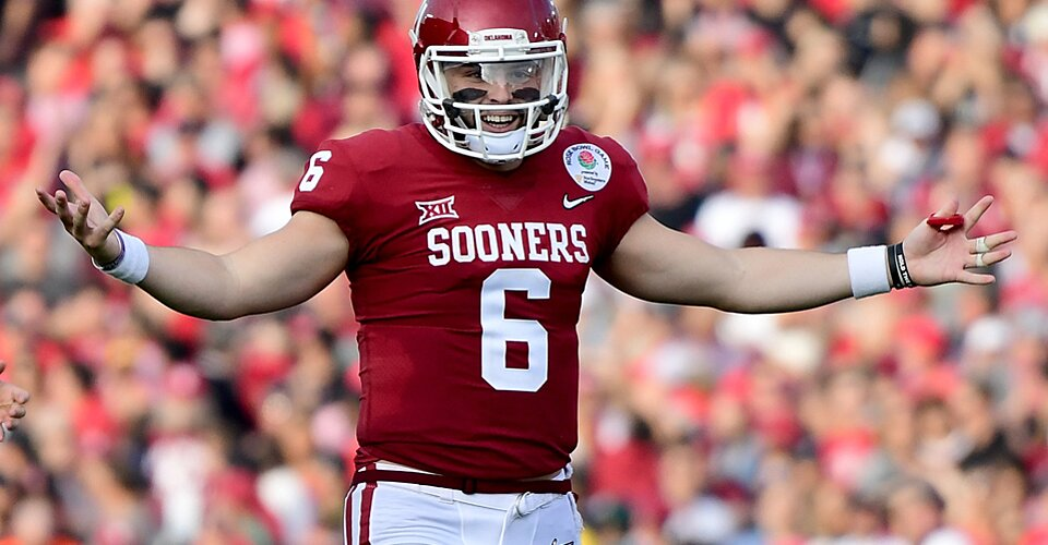 Baker Mayfield Did So Much Trolling During Oklahoma Georgia Hot Clicks
