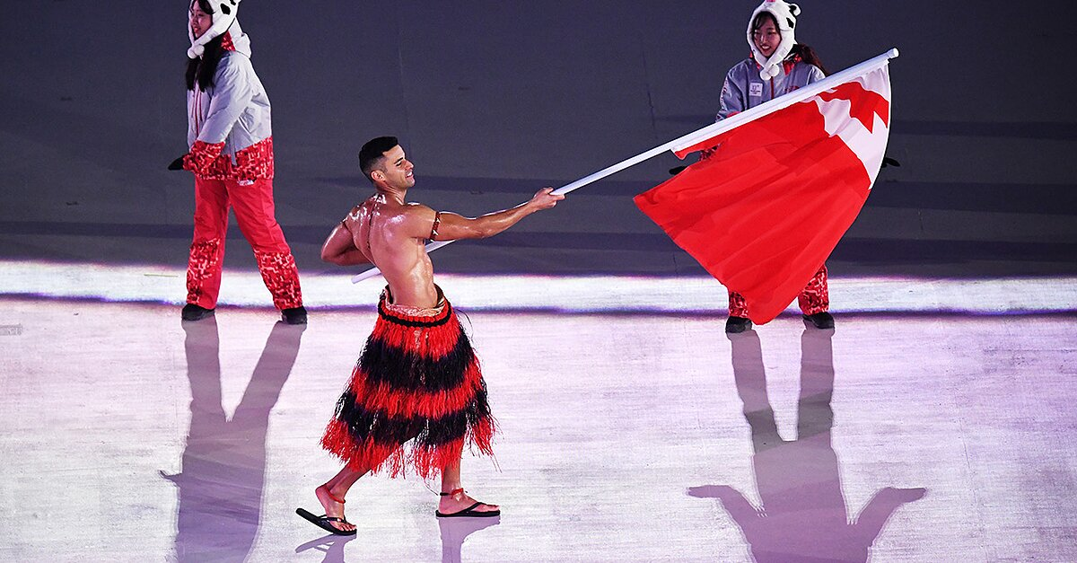 """After 12 weeks of training, tonga skiers performed strongly in the Olympics.""的图片搜索结果"