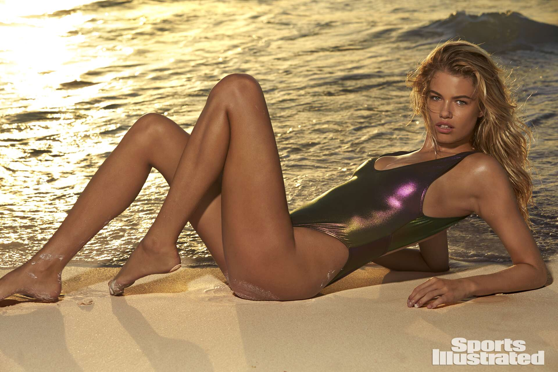 Hailey Clauson was photographed by Ben Watts in the Bahamas.