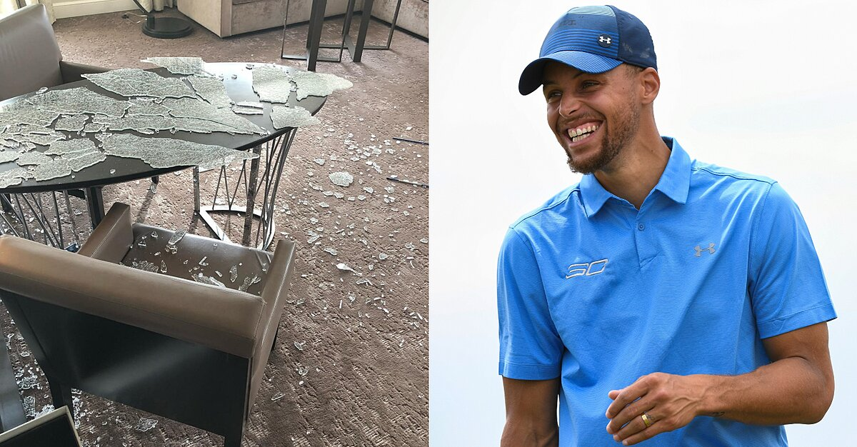 Stephen Curry Instagram: Hotel room trashed (photo)   SI.com