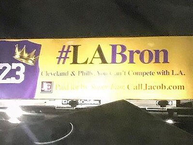 09dbc5781f9 Los Angeles billboards pitch Lakers to LeBron James