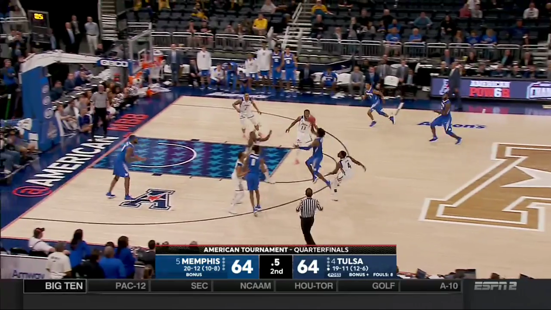 Memphis-buzzer-beater-tulsa-aac-tournament-video
