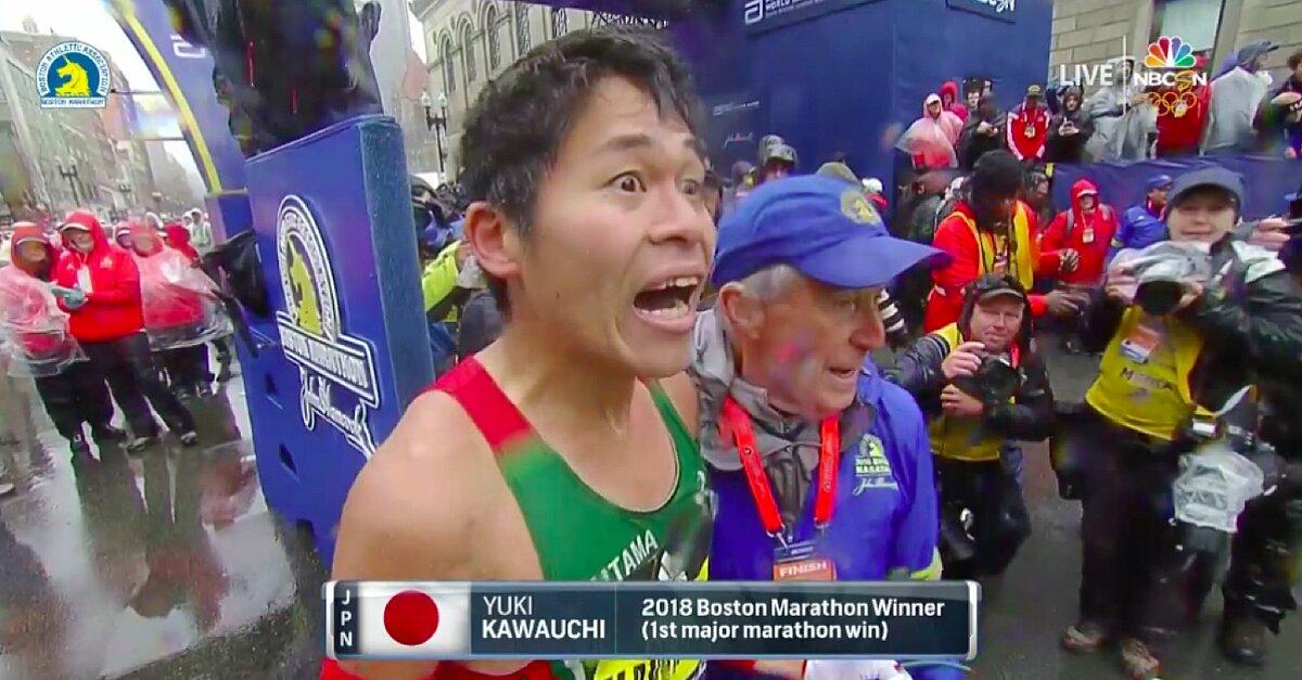 Japan's Yuki Kawauchi wins Boston Marathon