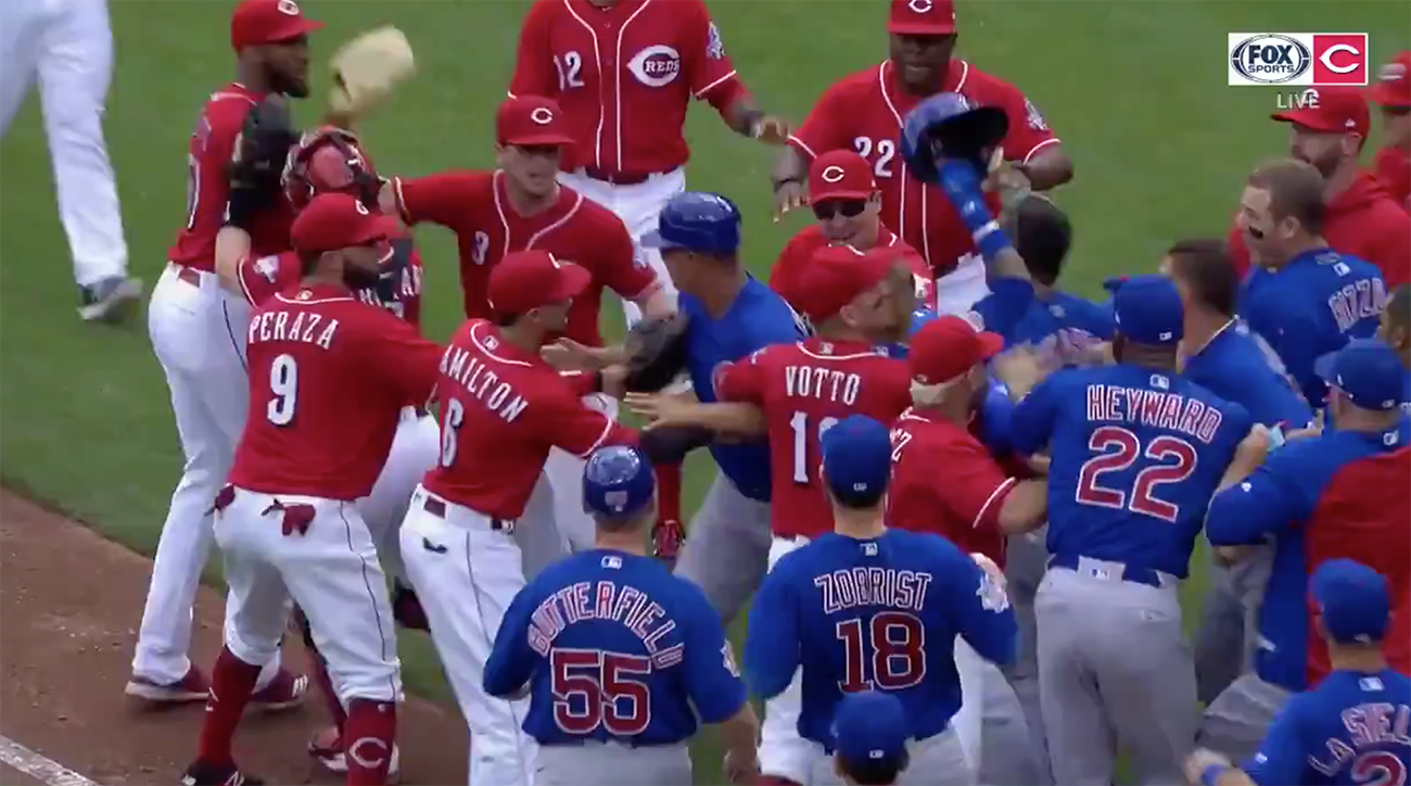 Cubs-reds-bench-clears