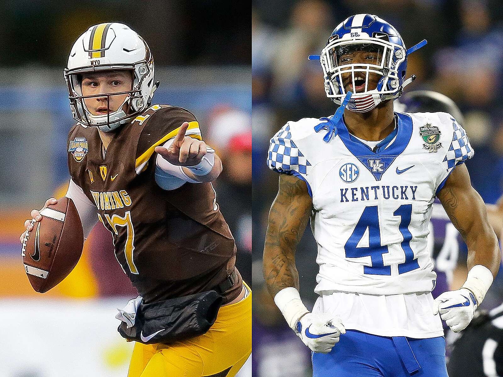 hot sale online 986e8 92bef Josh Allen: Kentucky LB on NFL draft buzz, Bills QB of same ...