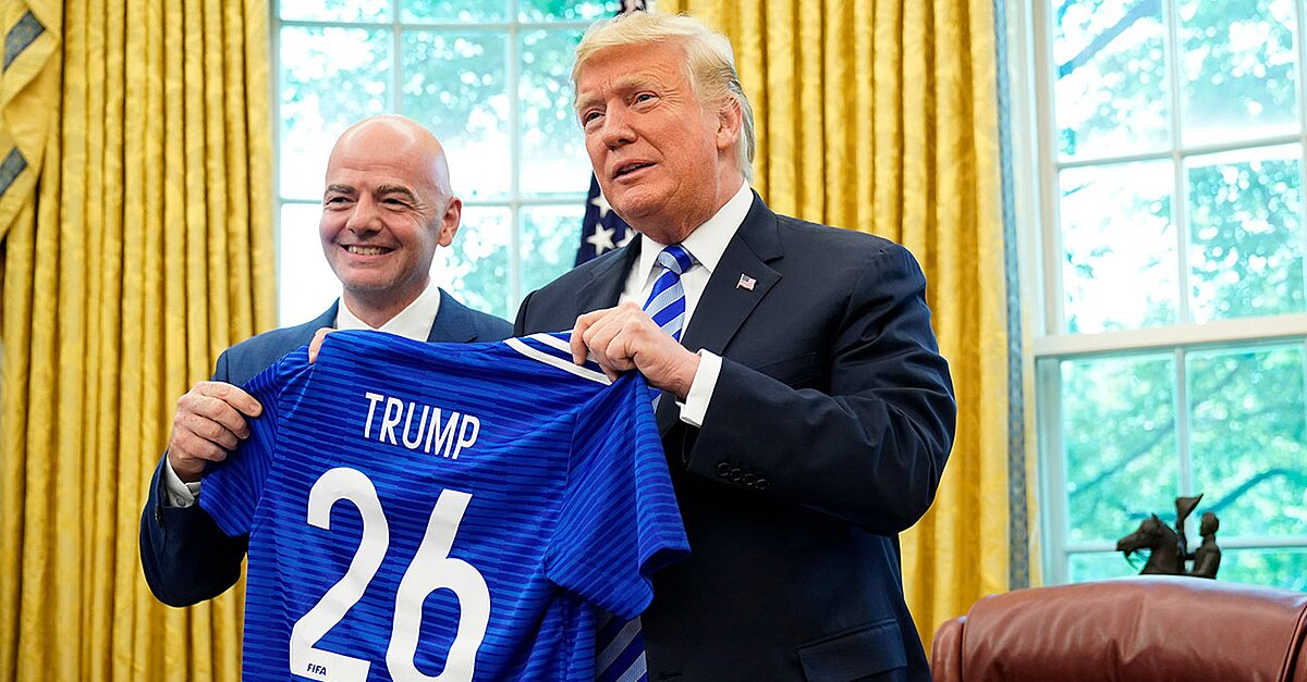 President Trump Meets With FIFA President Gianni Infantino, Red Cards the Media