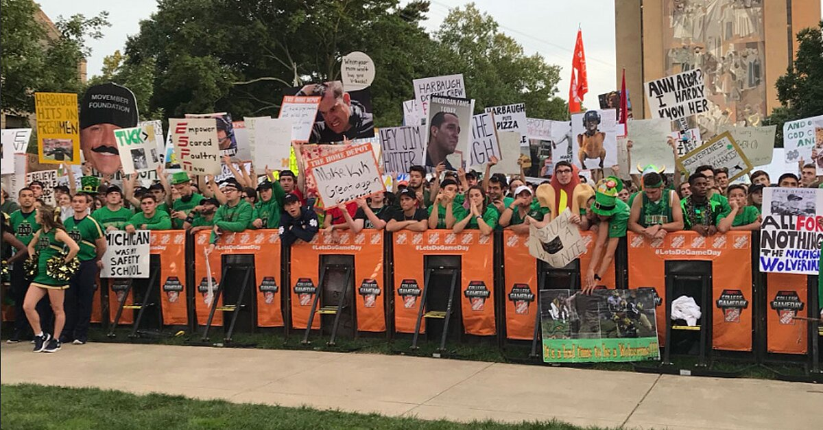 Best college gameday signs from notre dame vs michigan - North bend swimming pool schedule ...