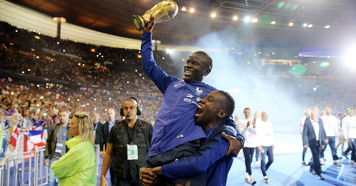 WATCH: France Players Serenade N'Golo Kante With His Chant at World Cup Celebration