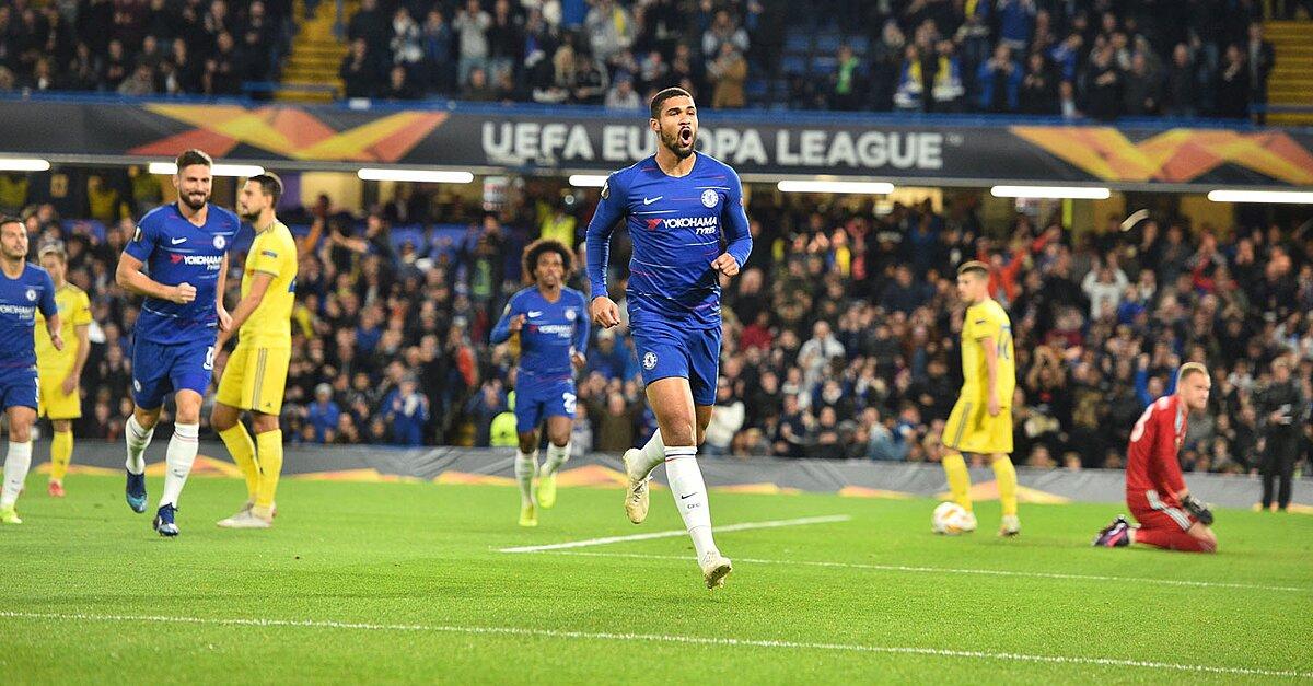 Loftus-Cheek Hat Trick Leads Chelsea Over BATE in Europa League