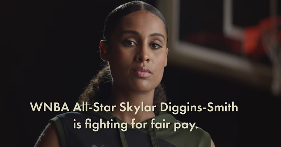 Watch: New eye-opening ad highlights WNBA pay inequity