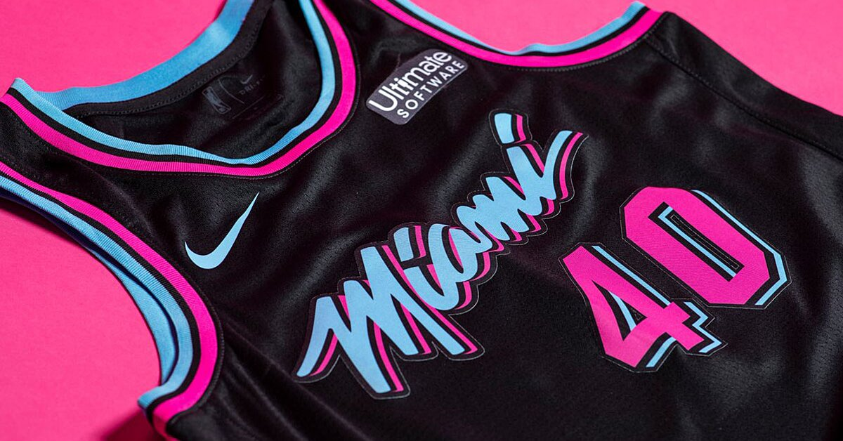 half off 9d48d 1f94a Miami Heat unveil 'Vice Nights' City Edition jerseys | SI.com