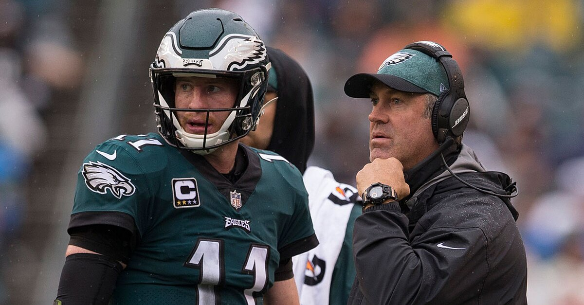 c525a84b3cd See the latest news, photos, and videos about Doug Pederson, Carson Wentz,  and Nick Foles on ZIG