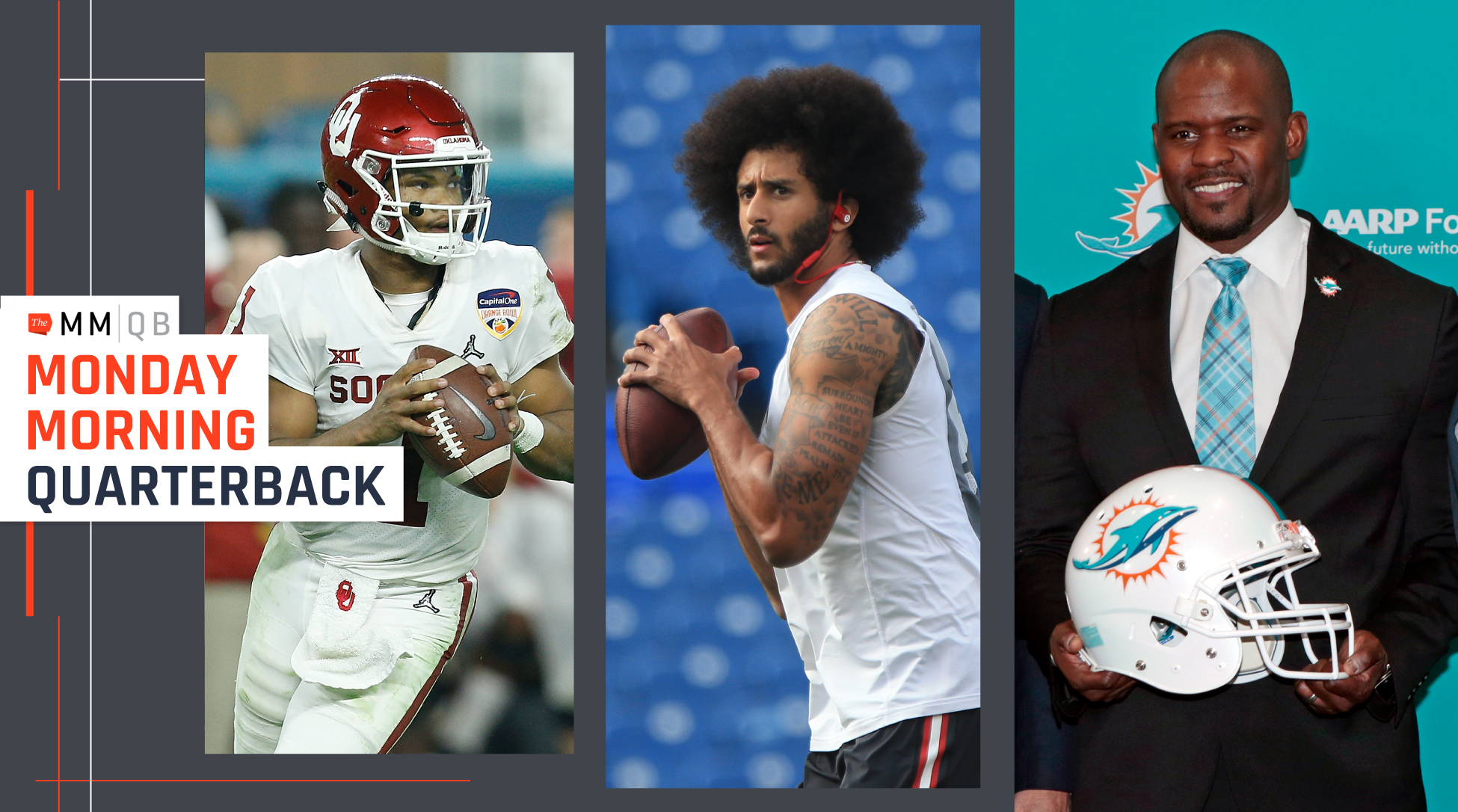 Flores and Taylor—on the sidelines for Super Bowl LIII two weeks ago—share the chaos of transitioning to their first head-coaching jobs immediately after the biggest game of their lives. Plus, three NFL scouts size up Kyler Murray, a look at the settlement of the Kaepernick/Reid collusion lawsuit, one other team that was in on Joe Flacco, franchise tag preview, draft notes and much more at the NFL offseason heats up.