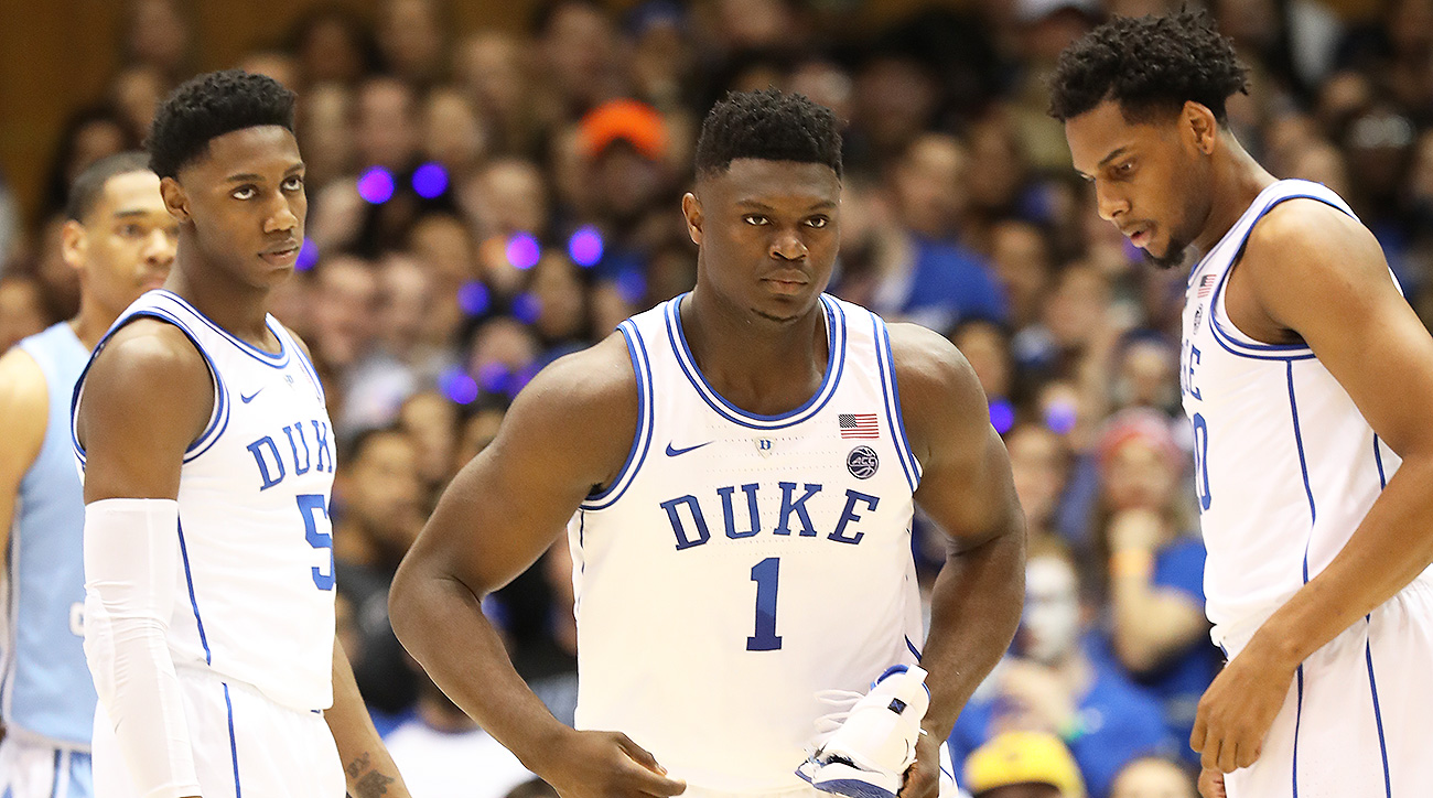 The Blue Devils' blowout loss to UNC without Zion Williamson didn't cost them their No. 1 overall seed in our NCAA tournament projection yet, but there's a lot more uncertainty now.