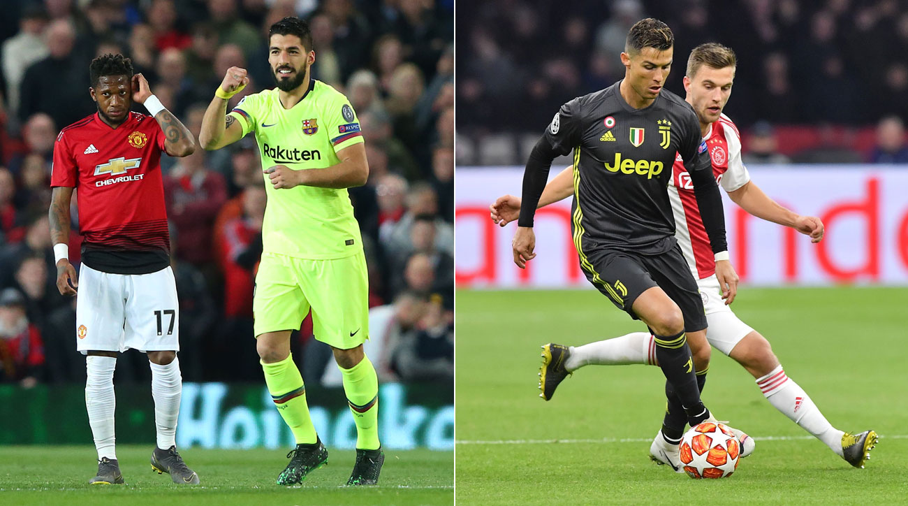 Barcelona was not its entertaining self but did enough to earn a first-leg win at Old Trafford, while Ajax was bright at home but had to settle for a draw vs. Juventus.