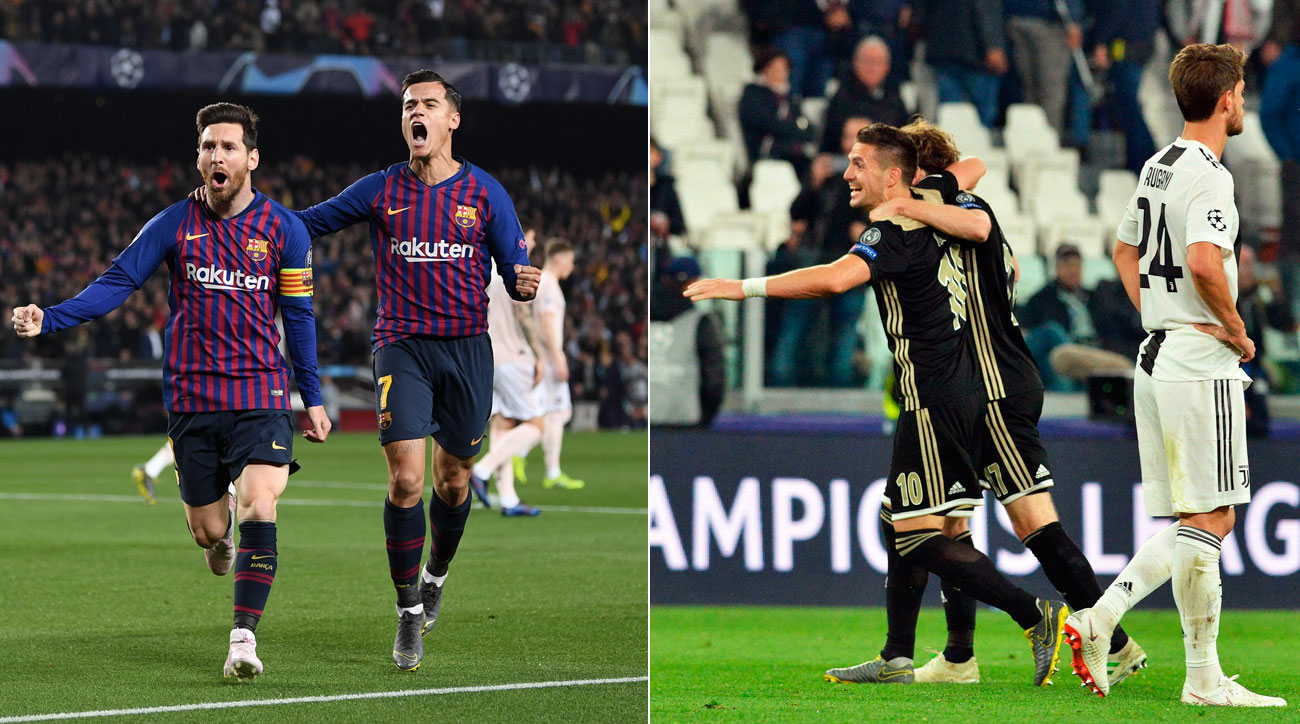 Ajax Stuns Juventus, Messi Gives Barcelona Its Swagger in Reaching UCL Semifinals