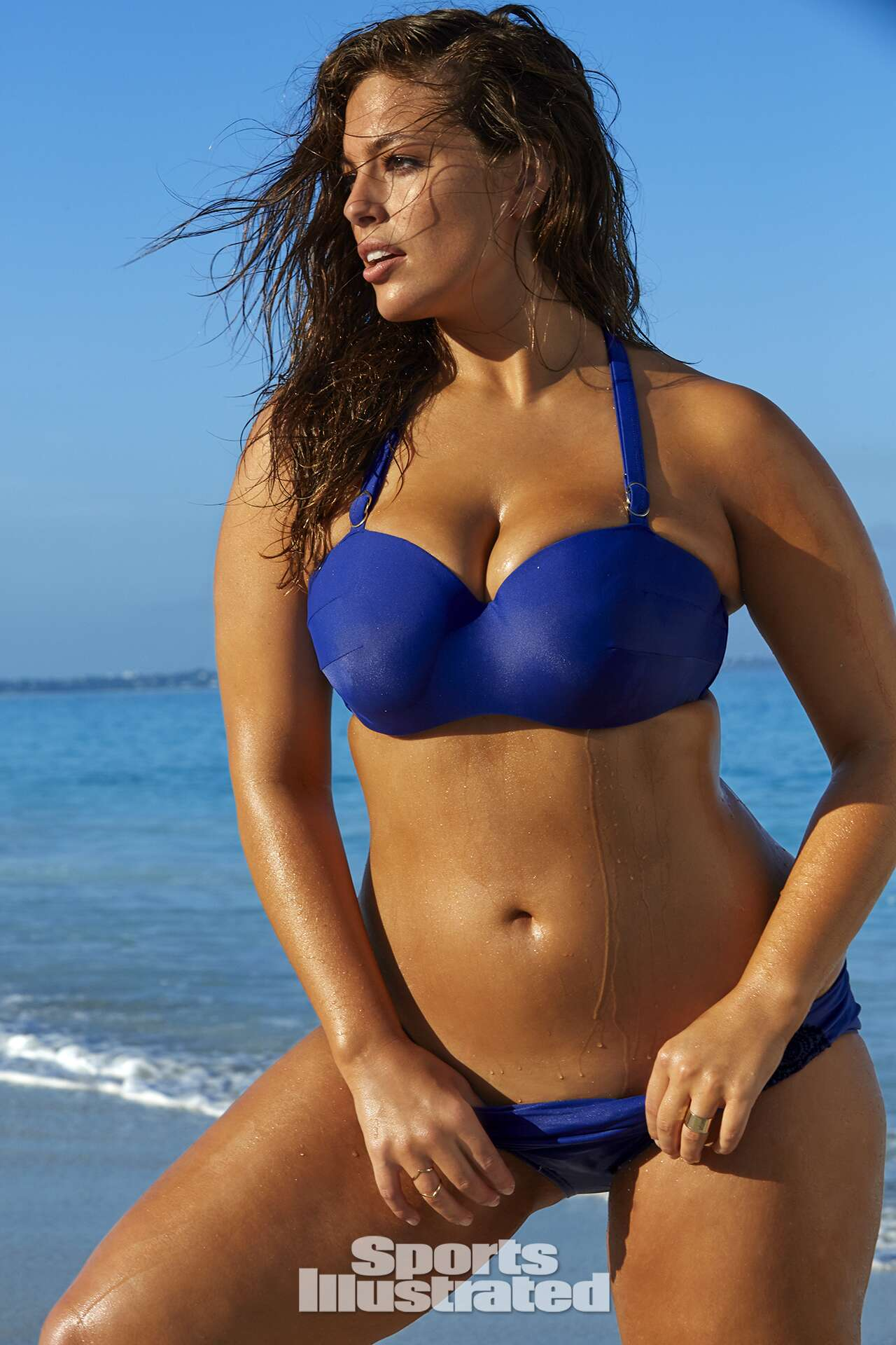Ashley Graham was photographed by James Macari in Turks & Caicos. Swimsuit by Lane Bryant.