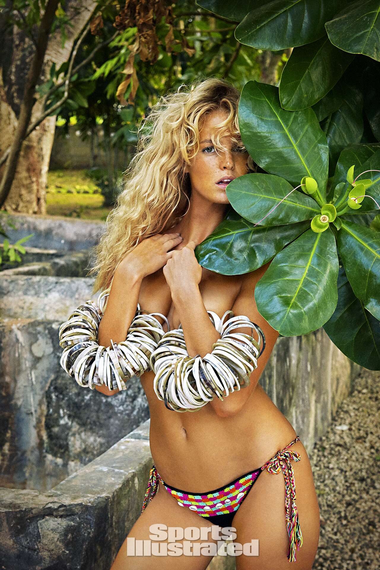 Erin Heatherton was photographed by Ruven Afanador in Zanzibar. Swimsuit by Anna Kosturova.