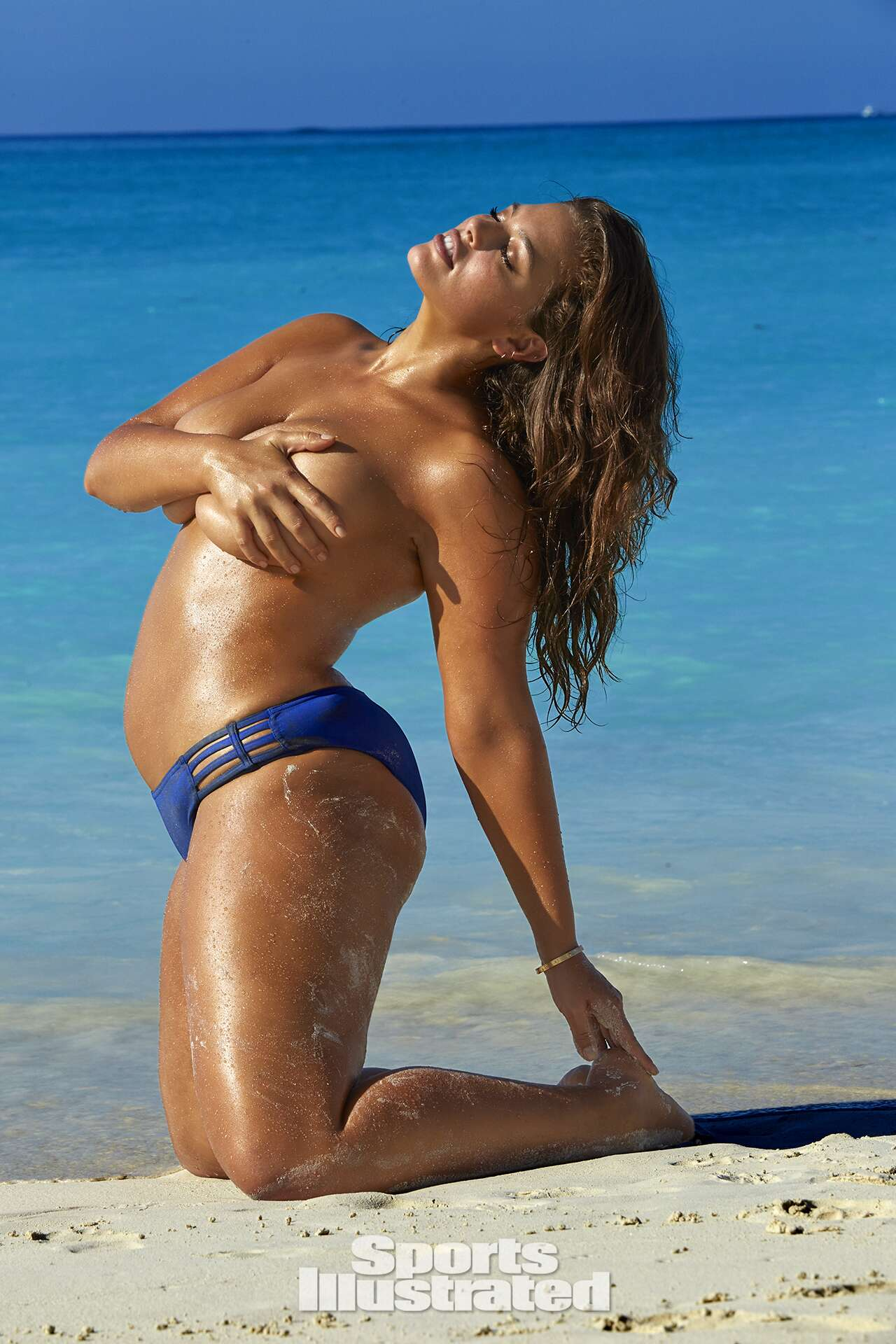 Ashley Graham was photographed by James Macari in Turks & Caicos. Swimsuit by JAG.