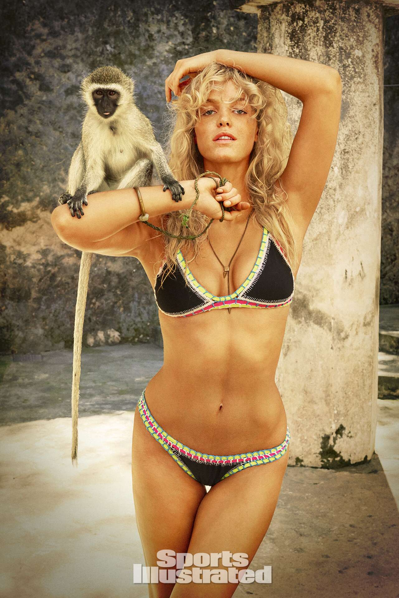 Erin Heatherton was photographed by Ruven Afanador in Zanzibar. Swimsuit by Indie Soul.