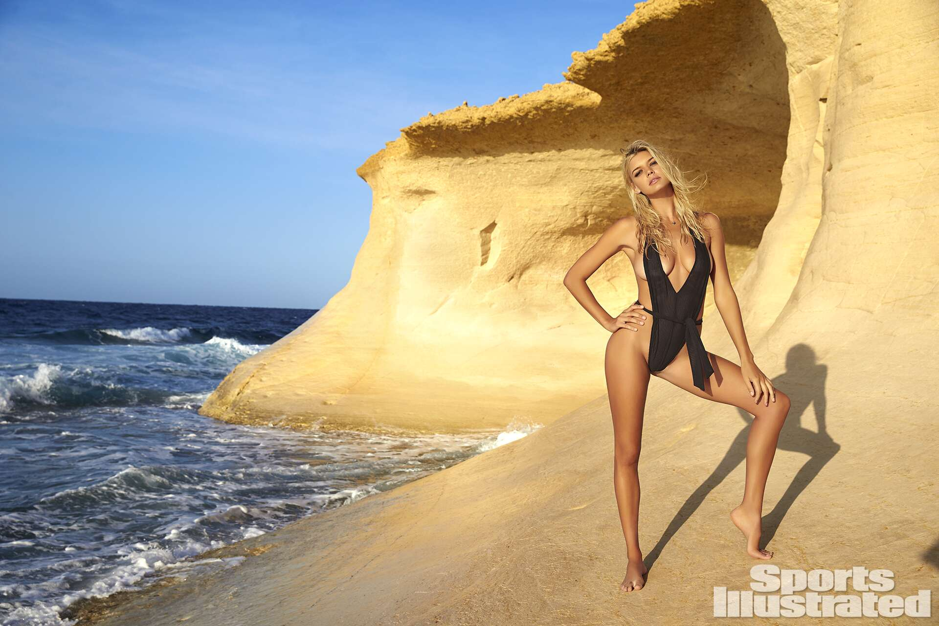 Kelly Rohrbach was photographed by Ben Watts in Malta. Swimsuit by Milkbaby Bikini By Cat Thordarson.