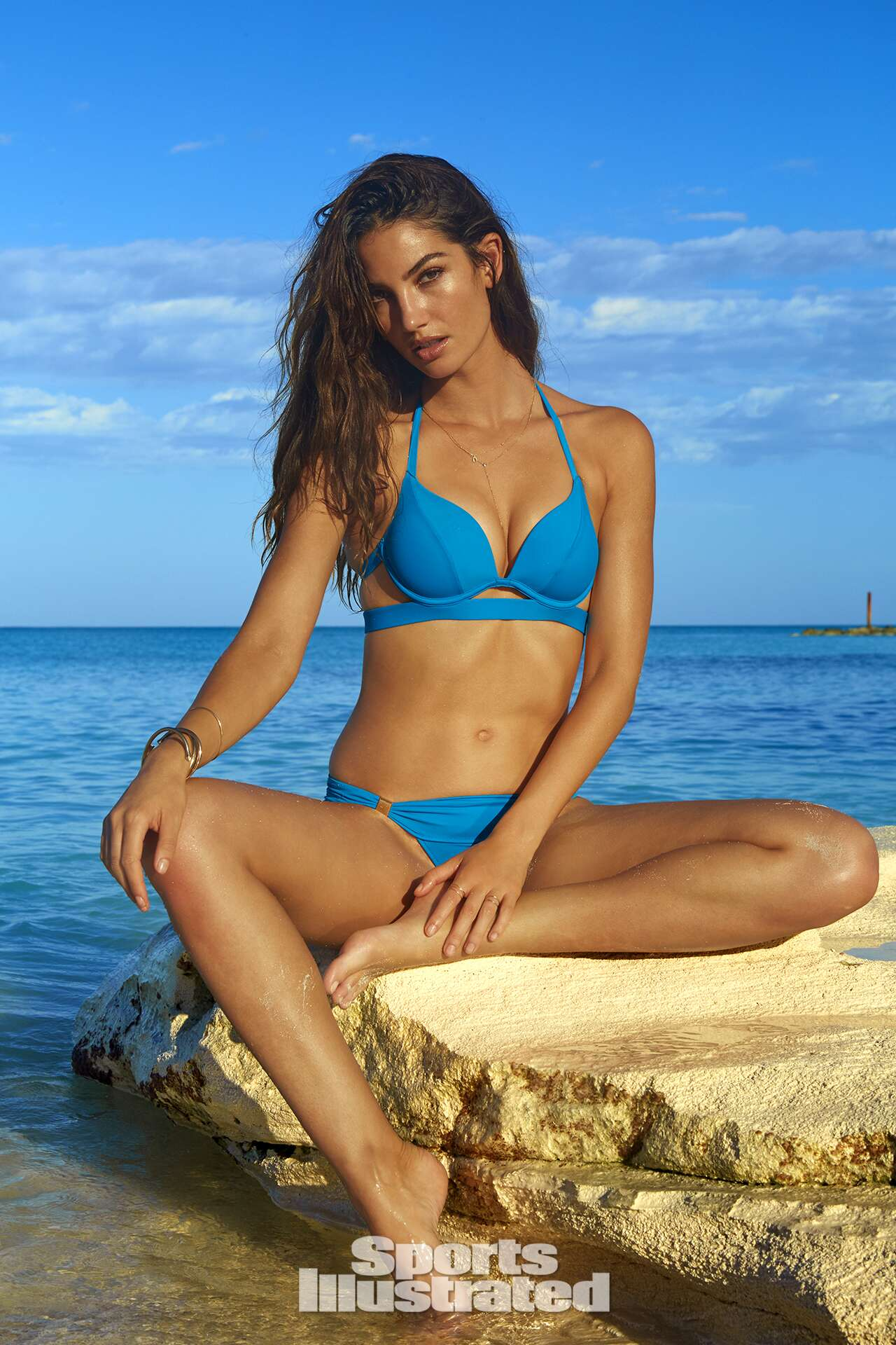 <p>Lily Aldridge was photographed by James Macari in Turks &amp; Caicos. Swimsuit by Victoria's Secret.</p>